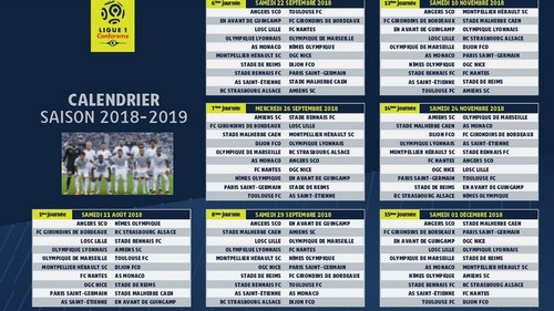 Calendrier Ligue 1 Foot.Om Saison 2018 2019 Calendrier Ligue 1 Olympique De Marseille